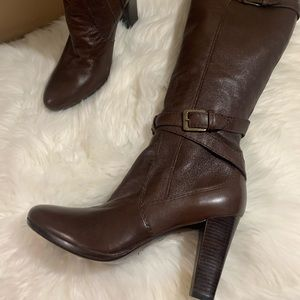 COLE HAAN F10 D32971 Brown Leather Knee High 10.5